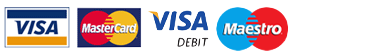 accepted cards: VISA, MasterCard, VISA Debit, Maestro